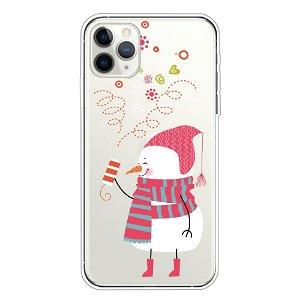 iPhone 11 Pro Max Fleksibelt Plast Cover - Sød Snemand