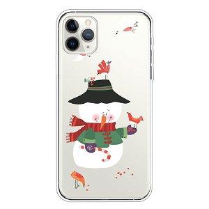 iPhone 11 Pro Fleksibelt Plast Cover - Snemand m. Fugle