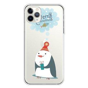 iPhone 11 Pro Fleksibelt Plast Cover - Sød Pingvin