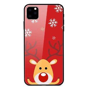 iPhone 11 Pro Max Jule Cover m. Glasbagside - Rensdyr i Snevejr