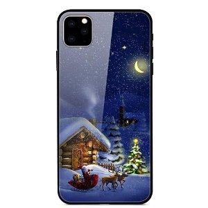 iPhone 11 Pro Max Jule Cover m. Glasbagside - Vinterhytte