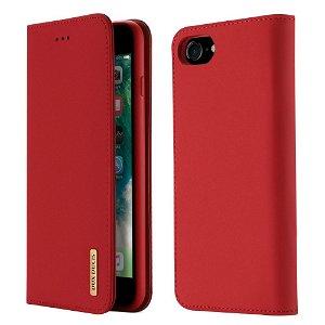 iPhone SE (2020) / 8 / 7 DUX DUCIS Læder Cover - Rød