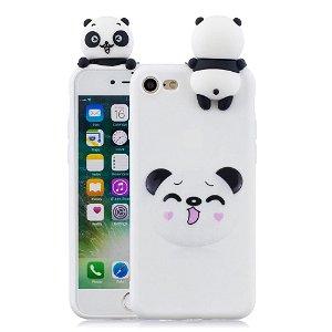 iPhone SE 2020 / 8 / 7 Fleksibelt Plast Cover - 3D Panda
