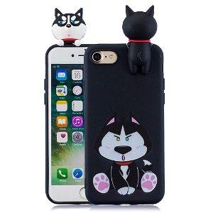 iPhone SE 2020 / 8 / 7 Fleksibelt Plast Cover - 3D Hund