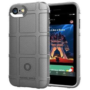iPhone SE (2020) / 8 / 7 Cover Rugged Shield Series - Grå