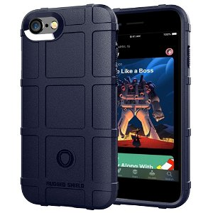 iPhone SE (2020) / 8 / 7 Cover Rugged Shield Series - Blå