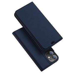 iPhone 12 / 12 Pro Dux Ducis Skin Pro Series Thin Wallet Flip Cover - Blå