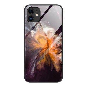 iPhone 12 Mini Bagside Cover m. Glasbagside - Orange Stjernetåge