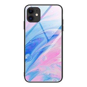 iPhone 12 Mini Bagside Cover m. Glasbagside - Flydende Farver