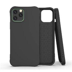 iPhone 12 / 12 Pro TPU Fleksibel Plastik Bagsidecover - Sort