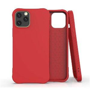 iPhone 12 / 12 Pro TPU Fleksibel Plastik Bagsidecover - Rød