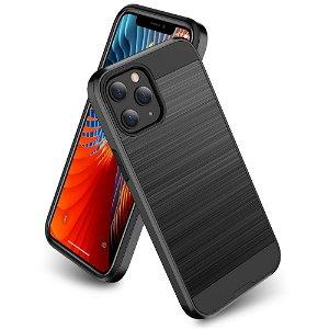 iPhone 12 / 12 Pro Plastik Cover m. Metal Look - Sort