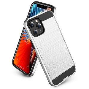 iPhone 12 / 12 Pro Brushed Hybrid Cover - Sølv