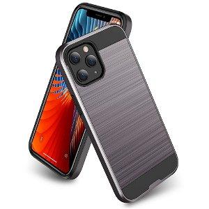 iPhone 12 / 12 Pro Plastik Cover m. Metal Look - Sølv