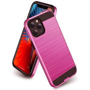 iPhone 12 Mini Plastik Cover m. Metal Look - Pink