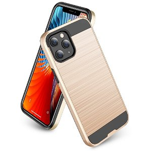 iPhone 12 Mini Plastik Cover m. Metal Look - Guld