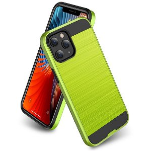 iPhone 12 Mini Plastik Cover m. Metal Look - Grøn