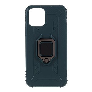 iPhone 12 / 12 Pro Cover m. Magnetisk Kickstand - Grøn