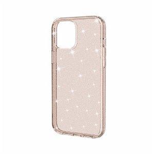 iPhone 12 / 12 Pro Cover m. Glimmer - Gennemsigtig / Guld