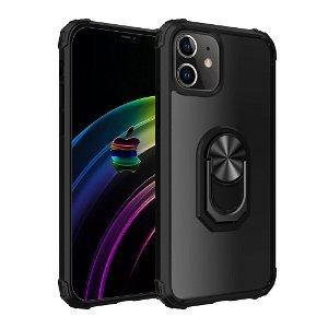 iPhone 12 Mini Håndværker Cover m. Magnetisk Stander - Gennemsigtig / Sort