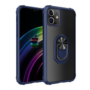 iPhone 12 Mini Håndværker Cover m. Magnetisk Stander - Gennemsigtig / Blå