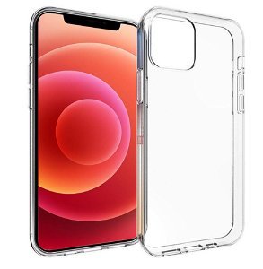 iPhone 12 Pro Max Fleksibelt Plastik Bagside Cover - Gennemsigtig