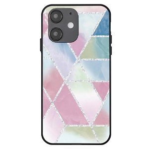 iPhone 12 Mini Cover med Print - Geometri - Farverig Marmor