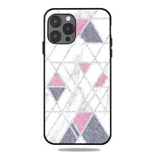 iPhone 12 Pro Max Cover med Print - Geometri - Hvid Marmor