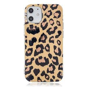 iPhone 12 Mini Plast Cover - Leopard / Sort