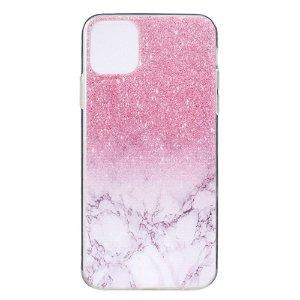 iPhone 12 Pro Max Fleksibelt Plast Cover - Lyserød Marmor