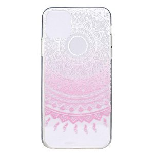 iPhone 12 / 12 Pro Plastik Bagside Cover - Lyserød Mandala