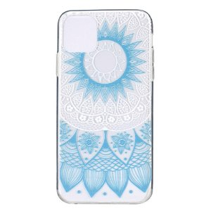 iPhone 12 / 12 Pro Plastik Bagside Cover - Blå Mandala