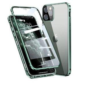 iPhone 11 Pro Max 360 Graders Magnetisk Cover m. Glas Bagside & Forside - Grøn