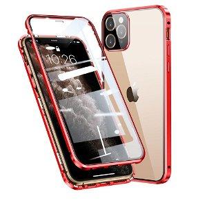 iPhone 11 Pro Max 360 Graders Magnetisk Cover m. Glas Bagside & Forside - Rød