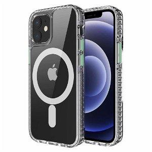 iPhone 12 / 12 Pro Non-Slip Cover - MagSafe Kompatibel - Gennemsigtig / Grøn
