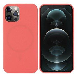 iPhone 12 / 12 Pro Silikone Case Varm Pink MagSafe