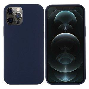 iPhone 12 / 12 Pro Silikone Case Mørkeblå MagSafe