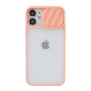 iPhone 12 Mini  Plastik Cover Frosted m. Camslider - Lyserød