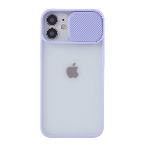 iPhone 12 Mini Frosted Plastik Cover m. Camslider - Lilla