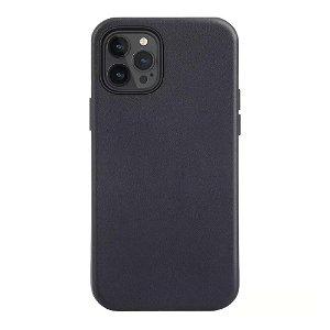 iPhone 12 Pro Max Læder Cover - MagSafe Kompatibel - Sort