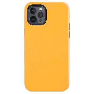 iPhone 12 Pro Max Læder Cover - MagSafe Kompatibel - Orange
