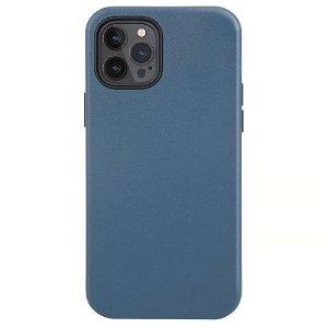 iPhone 12 Pro Max Læder Cover - MagSafe Kompatibel - Blå