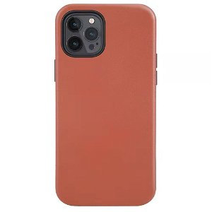 iPhone 12 Pro Max Læder Cover - MagSafe Kompatibel - Brun
