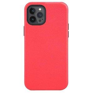 iPhone 12 / 12 Pro Læder Cover - MagSafe Kompatibel - Rød