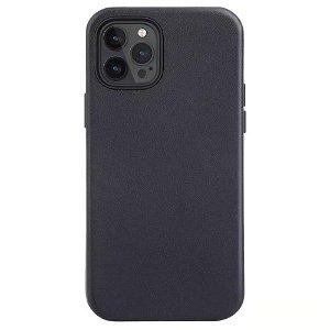 iPhone 12 / 12 Pro Læder Cover - MagSafe Kompatibel - Sort