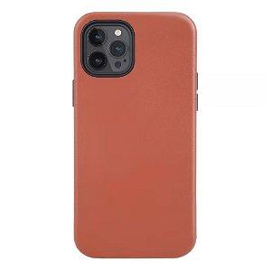 iPhone 12 / 12 Pro Cover Ægte Læder - MagSafe Kompatibel - Brun