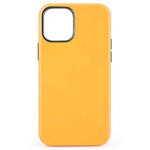 iPhone 12 Mini MagSafe Kompatibel Cover - Læder - Gul