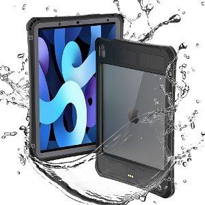 iPad Air (2020) Vandtæt Bagside Cover Med Strop & Kickstand - Sort