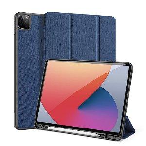 """iPad Pro 12.9"""" (2021) DUX DUCIS DOMO Series Flip Cover - Blå"""