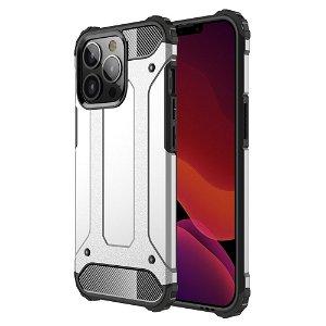 iPhone 13 Pro Armor Guard Håndværker Bagside Cover - Sølv